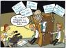 """Satirteckning om """"Nya moderaternas"""" tvivelaktiga historia. Av Max Gustafson - serietecknare."""