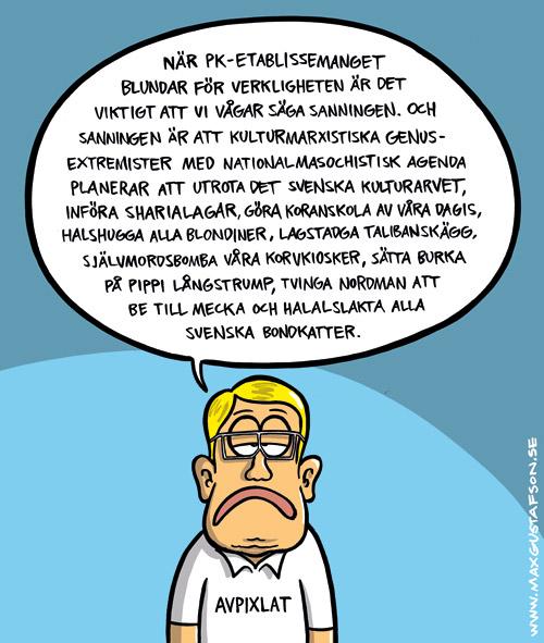 Ett sanningens ord om svenskfientligheten. Av Max Gustafson.