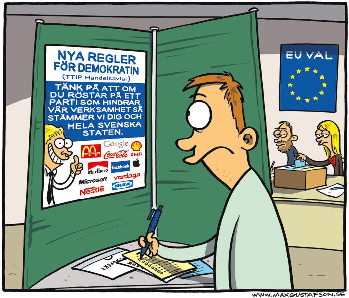 Om TTIP frihandelsavtal. Av Max Gustafson.
