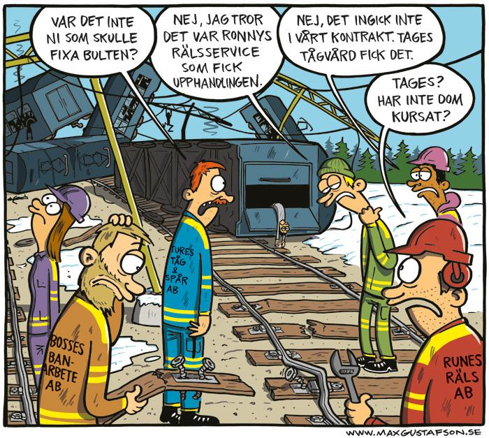 Om vår avdemokratiserade järnväg. Av Max Gustafson.