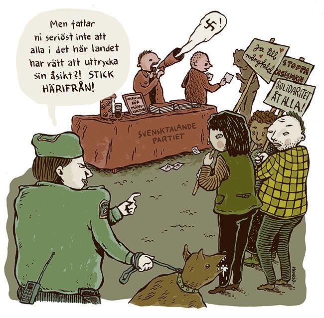 Om bristfällig åsiktsfrihet. Av Henri Gylander.
