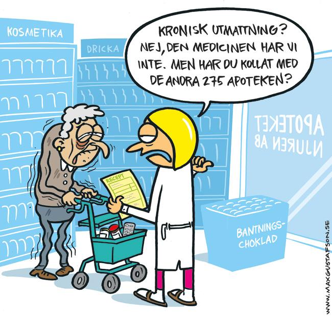 Om valfrihet och apotek. Av Max Gustafson.